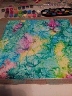 Bildergebnis für watercolor salt and glue Easy Art Projects, School Art Projects, Watercolor Art Diy, Watercolor Paintings, Watercolors, Mixed Media Canvas, Simple Art, Art Plastique, Elementary Art