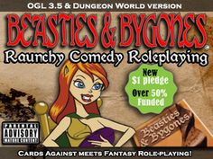 Beasties & Bygones: Raunchy Comedy RPG - Dungeon World & 3.5's video poster