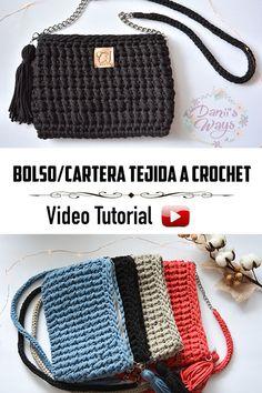 Cartera tejida a crochet! Con este video tutorial podrás aprender paso a paso a tejer esta cartera/bolso de manera fácil y rápida! #Crochet #Ganchillo #crochetbag #carteracrochet #crochetpattern #shoulderbag #cartera #bolso #knittingpattern