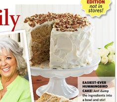 I soooo want to try making this cake. Paula Deen's Hummingbird Cake