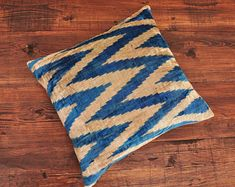 ikat fabric throw pillow ikat cushion suzani decor by DecorUZ Ikat Pillows, Velvet Pillows, Cushions, Velvet Upholstery Fabric, Ikat Fabric, Printed Silk Fabric, Handmade Pillows, Sell On Etsy, Pillow Inserts