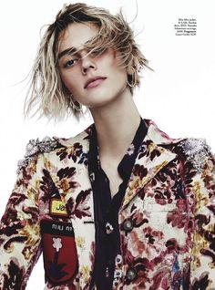 Mali Koopman in Miu Miu photographed by Nicole Bentley for Vogue Australia, November 2016.