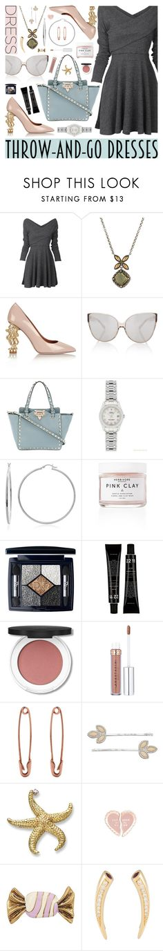 """""""Easy Outfitting: Throw-and-Go Dresses"""" by shadows-past-midnight ❤ liked on Polyvore featuring John Hardy, RED Valentino, Linda Farrow, Valentino, Rolex, Sterling Essentials, Christian Dior, LC Lauren Conrad, ban.do and Marc Jacobs"""