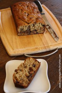 Reeses Peanut Butter Cup Banana Bread 009