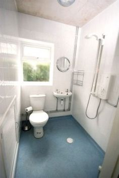 wet room & info on them on link, this would be perfect in a basement conversion Wet Room Bathroom, Wet Room Shower, Tiny Bathrooms, Upstairs Bathrooms, Laundry In Bathroom, Amazing Bathrooms, Bathroom Things, Small Wet Room, Edwardian Bathroom