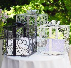 Silver, Black or White Gift Box Wishing Well #wedding