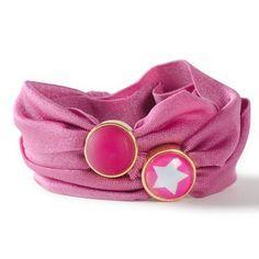 Armband aus Lycraband und Schiebeperlen für Cabochons aus Polaris und Glas.