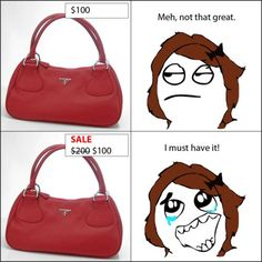 lol so true, except that purse is ugly regardless