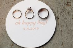 oh happy day! wedding rings // photography: Riverland Studios