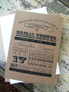 Printable  wedding invitations: vintage font statement