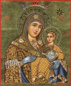 Religious_icon_art - Home - Αρχική Religious Icons, Religious Art, Jesus Father, Nativity Church, Mama Mary, Blessed Mother Mary, Mary And Jesus, Guardian Angels, Holy Family
