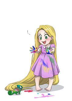 Baby Disney - Rapunzel by *Eley0n on deviantART #disney #princess #children #cartoon #fun