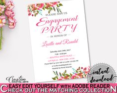 Engagement Party Invitation Bridal Shower Engagement Party Invitation Spring Flowers Bridal Shower Engagement Party Invitation Bridal UY5IG #bridalshower #bride-to-be #bridetobe