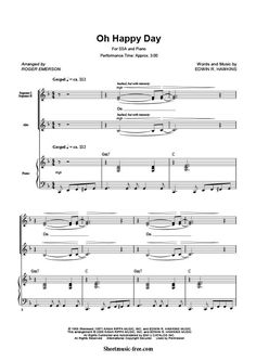 Oh Happy Day Sheet Music Sister Act Download Oh Happy Day Piano Sheet Music Free PDF Download  #sisteract #OhHappyDay #Gospel #Soprano #musicians #church #christianmusic #Piano #pianist #partituras #spartiti #musicscores
