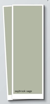 Saybrook Sage Benjamin Moore- Living Room This is very similar to the current color of my living room
