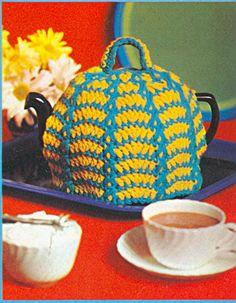 Vintage tea cosy crochet pattern from 1969.