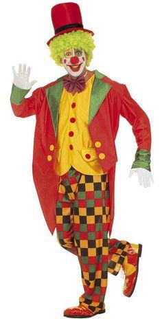 Clown Herrenkostüm Deluxe bunt