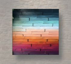 Check out our ombre wood wall art selection for the very best in unique or custom, handmade pieces from our shops. Abstract Landscape Painting, Landscape Paintings, Ombre Color, Painting On Wood, Wood Paintings, Paint Designs, Wood Wall Art, Beautiful Landscapes, Wall Design