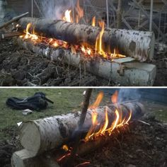 Build A Finnish Gap Fire For All Night Warmth | Camping outdoors, or in the fireplace at home, this is an efficient way to build a fire.