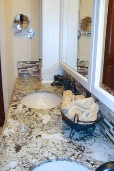 Delicatus white granite photo by kitchenaddict Bathroom countertops colorado springs