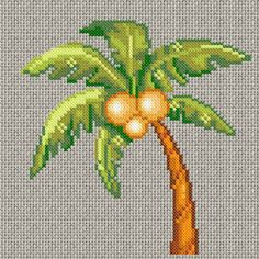 summer time! coconut tree free chart