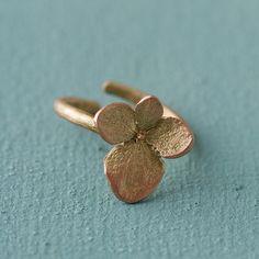 Hydrangea Petal Ring in Valentines + Gifts Bracelets + Rings at Terrain