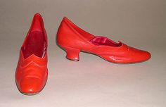 Shoes, ca. 1880. British. Leather and silk.