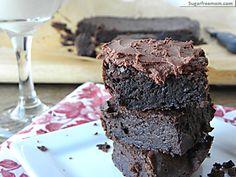 Fudgey Flourless Chocolate Brownies #dairyfree #glutenfree #sugarfree