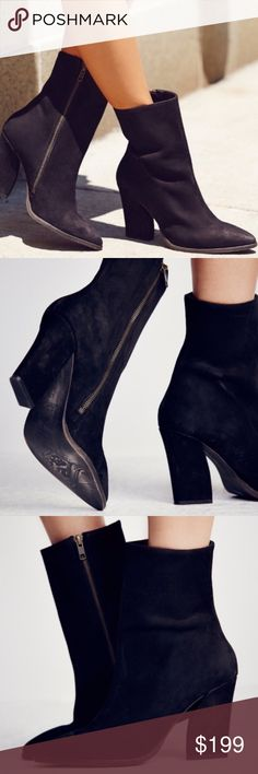 fd1d574e03d8a Free People MYSTIC CHARMS Black Heeled Booties 8 Brand: Free People. Style: MYSTIC  CHARMS. Category: heeled boots. Take on the night in style wearing these ...