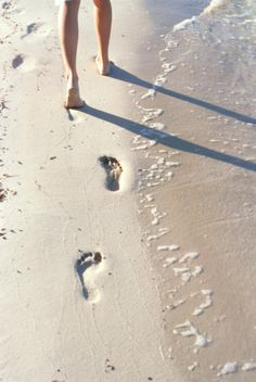 Did you know walking barefoot on a sandy beach is excellent for plantar fasciities?