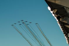 Fly over for the Kansas City Royals Playoff game- Photo by Sarah Spaedy