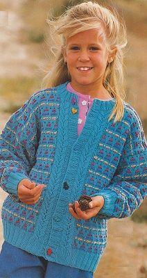dívčí svetr - barevný vzor