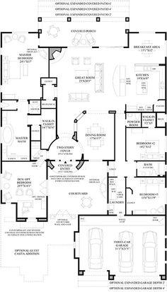 toll brothers - la jolla floor plan   house plans   pinterest   la