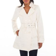 Twill Trench Jacket with Belt - Jackets for Spring Under $22 - Events