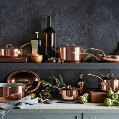 Mauviel Copper 12-Piece Cookware Set #williamssonoma