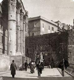 Foro di Augusto – Arco dei Pantani e Tempio di Marte Ultore Anno: 1900 Ancient Rome, Old City, Louvre, Street View, Travel, Shapes, Arch, Rome, Cities