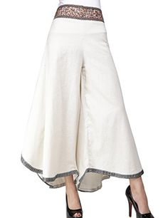 Generic Women's Comfy Stretch Chic Trousers Palazzo Pants *** Check out this great product. (This is an affiliate link) Salwar Designs, Blouse Designs, Trousers Women, Pants For Women, Clothes For Women, Bohemian Pants, Estilo Fashion, Indian Designer Outfits, Summer Pants
