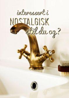 Blandingsbatteri Hafa Hampton til håndvask. Decorative Bells, The Hamptons, Faucet, Classic Style, Sink, Interior Decorating, Table Lamp, Antiques, Design
