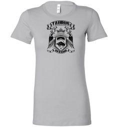Women's Zodiac Sign Taurus Short Sleeve Graphic Tees T-Shirt- Printed in USA