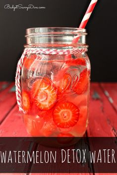 If you like Watermelon then this water is for you ! Watermelon Detox Water Recipe #watermelon #detox #infusedwater #easyrecipe #drink #budgetsavvydiva via budgetsavvydiva.com