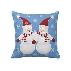 #Snowman Pals: Throw #Pillow
