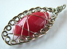 Wire wrapping polished gemstones