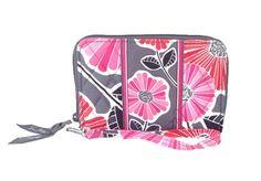 Vera Bradley Zip-Around Wristet Wallet, Cheery Blossoms