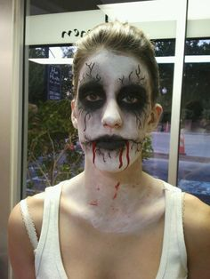 Halloween makeup I did on a client for a zombie walk, she won Zombie Prom Queen! used halloween makeup, eye shadow, and eye liner