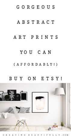 Abstract Art Prints You Can Buy On Etsy | CreatingBeautifully.com