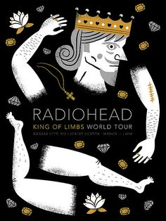 Radiohead Poster by Tad Carpenter