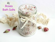 DIY Roses Bath Salts
