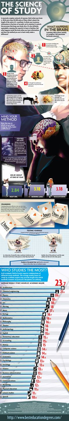 Learn more about the science of studying from this infographic! #study #tips