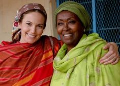 Diane Lane and Edna Adan on location with Half the Sky in Somalia