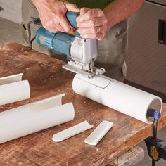 Woodworking Jigsaw jigsaw cut pvc pipe - Learn how to build a drill dock organizer to keep your workshop neat and clutter free!